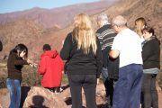 Grupo turístico en Cafayate