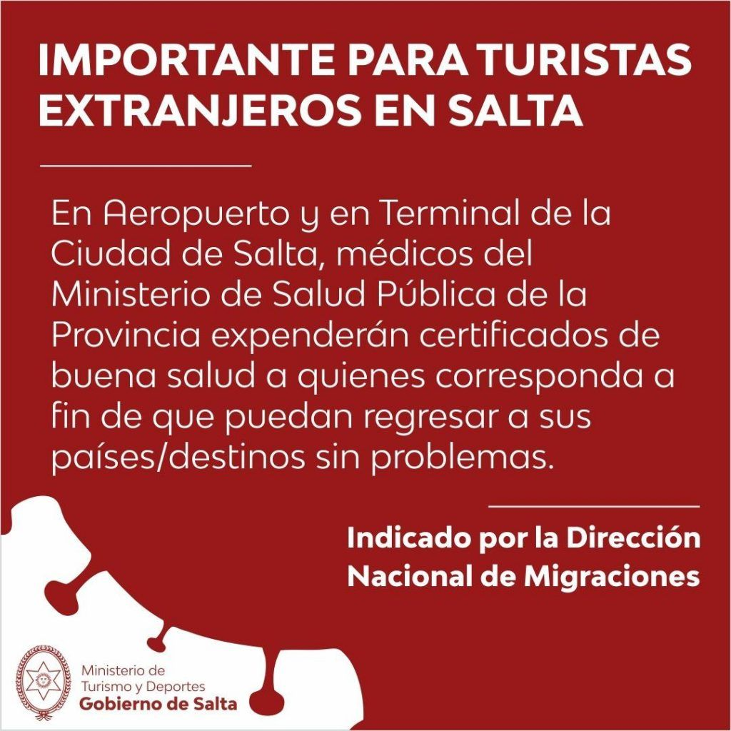 Información para turistas extranjeros en Salta